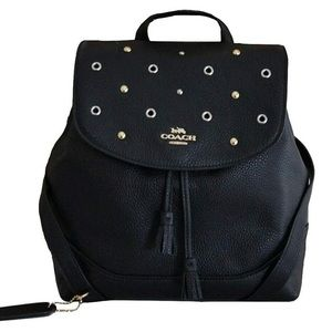 Coach Black Jade Backpack with Grommets